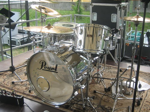 Pearl wood Fiberglass stage