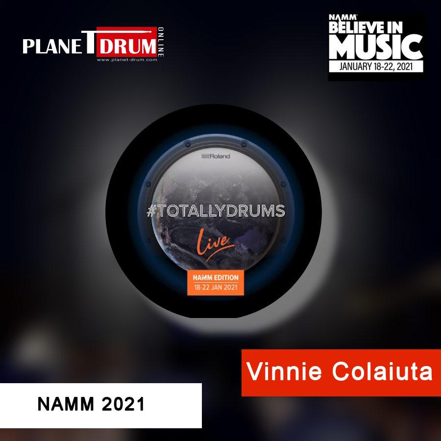 NAMM 2021 Vinnie Colaiuta