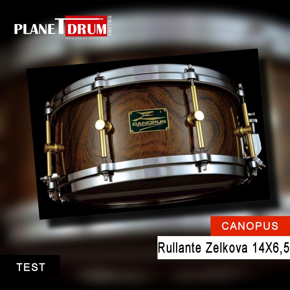Canopus Zelkova rullante da 14 X 6,5 in legno massello per un rullante unico