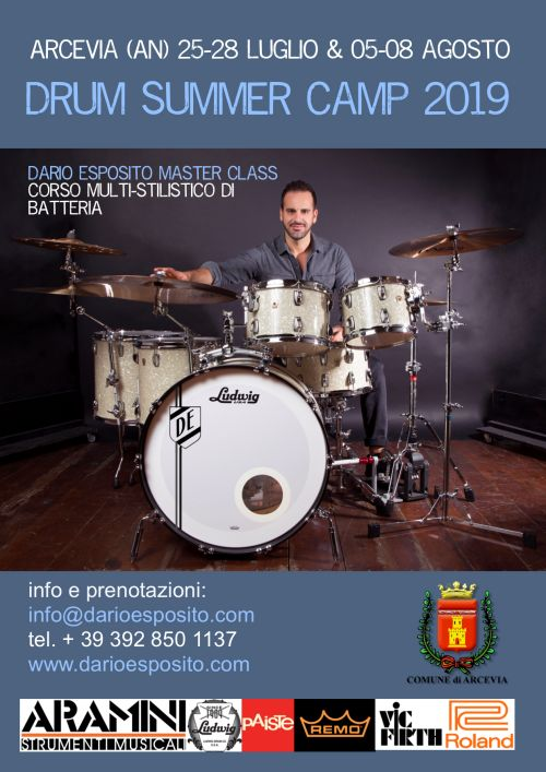DRUM SUMMER CAMP-DARIO ESPOSITO ARCEVIA 2019