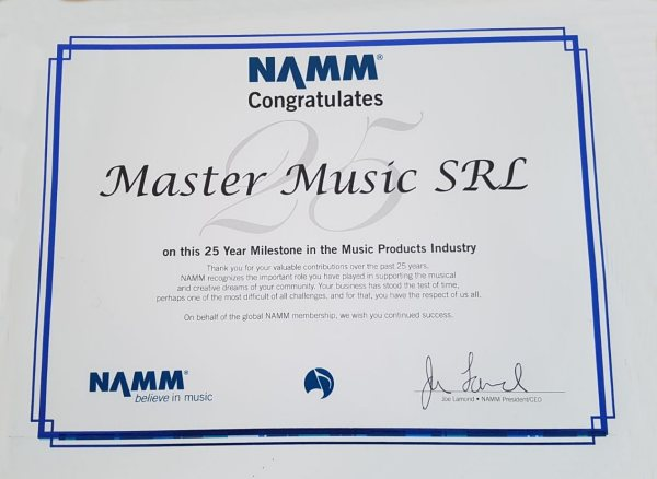 MasterMusic NAMM 25 award